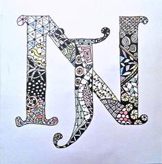 Zentangle Initials