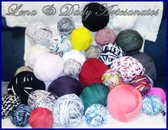 101020112562 (Lena & Dady Artesanato) Tags: tiara de lindo fuxico colar tecido malha trapilho