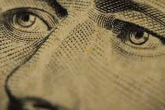 Macro Ten Dollar Bill
