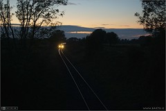 Last Train of the Day (bbusschots) Tags: train evening diesel dusk rail railway railcar irishrail trainset dmu iarnrdireann dmu3 class22000 classie22000