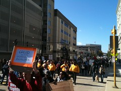 OccupyMKE---24 (WisconsinJobsNow) Tags: march action protest parade solidarity equality chasebank occupy massaction internationaldayofaction wiunion wearethe99percent occupymilwaukee occupymke marchonbanks mandibank
