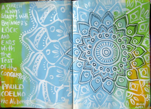 Moleskine Exchange Project : Paulo quote with Mandala
