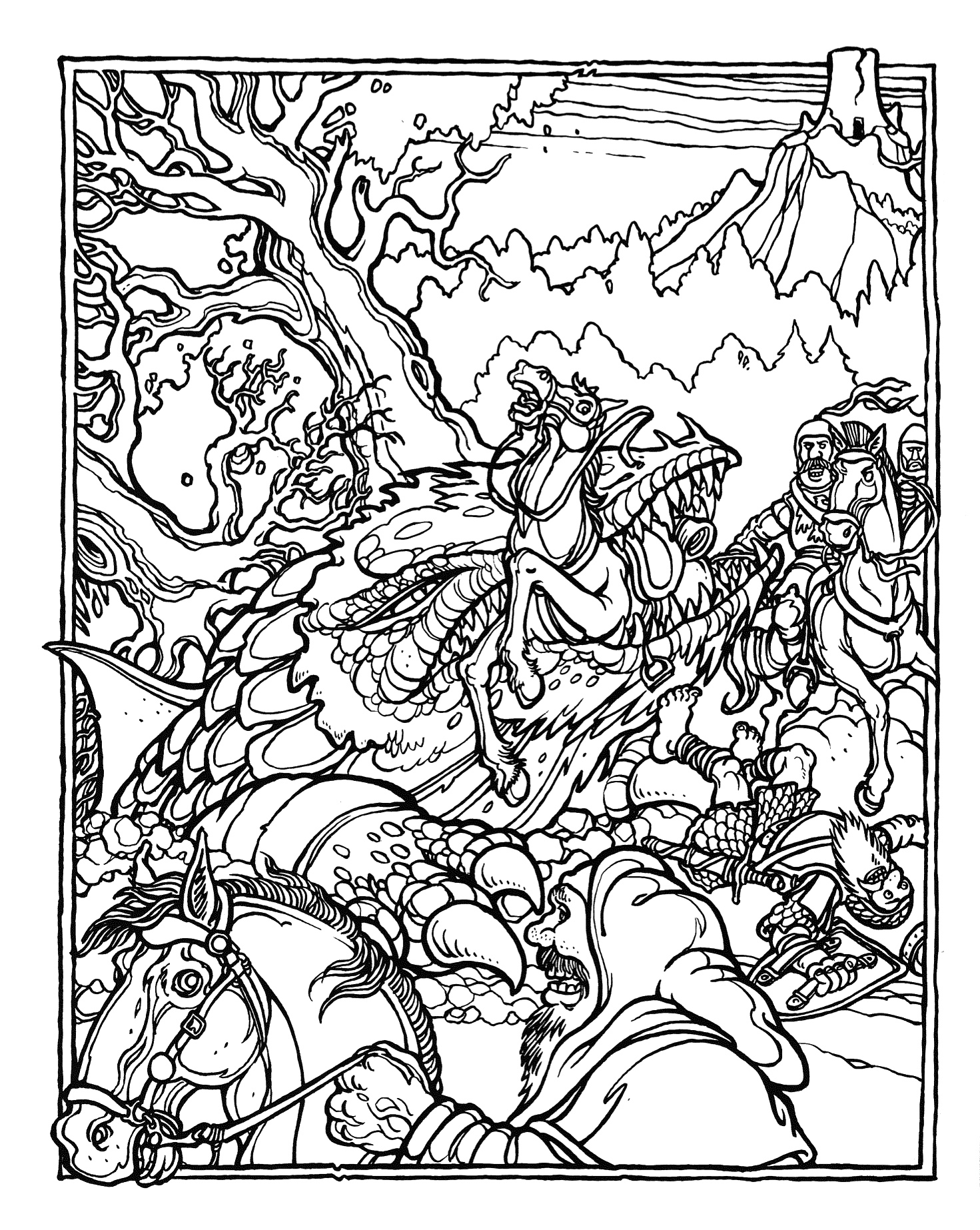 dungeons and dragons coloring pages - photo#1