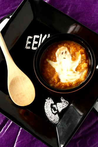 Roasted Sweet Potato Ghost Town Soup