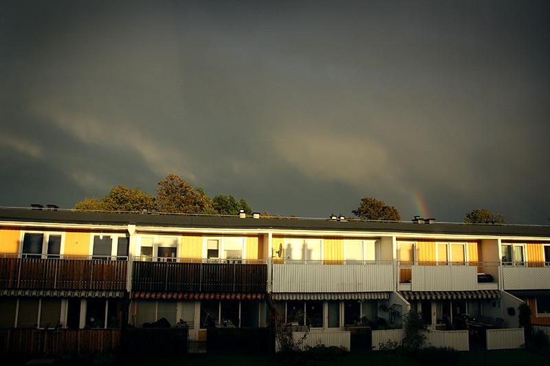 konstigt väder utsikt från mitt fönster