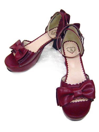 Btssb red sandals