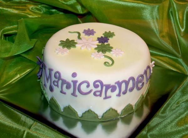 Otra vista de la tarta de Maricarmen