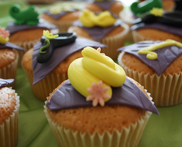Detalle de las cupcakes decoradas