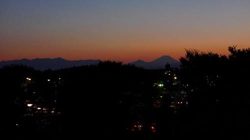 Fujiyama viewed from Tachikawa.