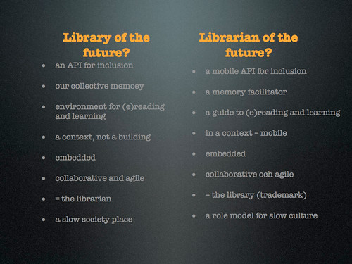 Library/librarian of the future?