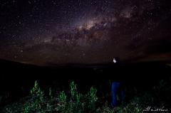 Taking Five (WillMatthews) Tags: longexposure light sky selfportrait night dark stars star nikon break five flash brisbane galaxy nebula queensland taking milkyway d7000 gregorscreek