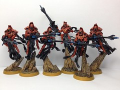 Eldar Shadow Spectres with Exarch (Monstrous Creatures) Tags: shadow warhammer40000 eldar exarch spectres