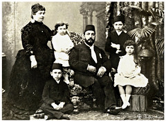 Khedive Tewfik Of Egypt With His Family - A Family Portrait In 1880's (Tulipe Noire) Tags: africa family portrait princess daughter formal egypt middleeast son prince ali cairo egyptian wife abbas seated ruler amina muhammad 1880s hilmi tewfik khedive khadiga nimetallah elhami