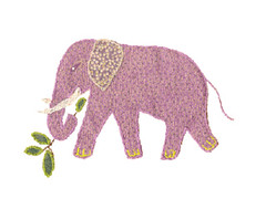 Clipart Patchwork Pink Elephant (Ambersky235) Tags: elephant work needle clipart quilting patchwork appliqu