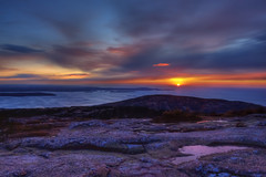 Cadillac Mountain Sunrise (Moniza*) Tags: park sunset mountain sunrise dawn twilight nikon dusk maine explore national valley acadia cadillacmountain d90 explored moniza landscapeexhibition photographerschoice~halloffame