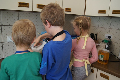 freezing cookie dough - kids