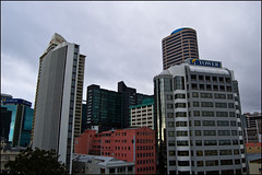 Lookout on Auckland CBD from Downtown Carpark