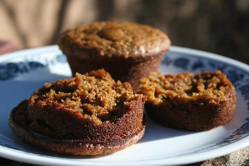 pumpkin okara muffins