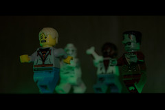 Run!!!!!!!! (DMeadows) Tags: house halloween monster werewolf toy toys model lego haunted frankenstein minifigs mummy wolfman minifigures davidmeadows dmeadows yahoo:yourpictures=light
