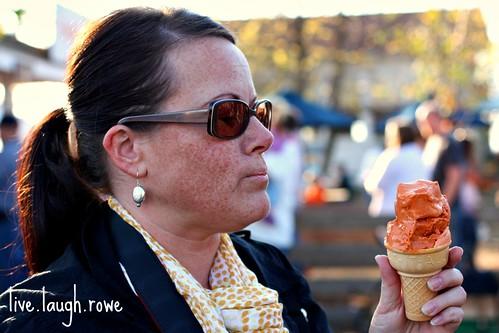 Kristine_pumpkin ice cream