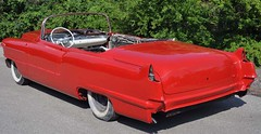 "1956 Series 62 Red Convertible Cadillac restoration • <a style=""font-size:0.8em;"" href=""http://www.flickr.com/photos/85572005@N00/6303514994/"" target=""_blank"">View on Flickr</a>"