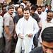 Rahul Gandhi comes out of Ravidas Mandir