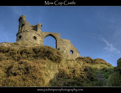 Mow Cop Castle (Paul Simpson Photography) Tags: uk england brick castle history mystery cheshire bluesky nationaltrust staffordshire hdr folly historicbuilding mowcopcastle october2011 sal2470z paulsimpsonphotography flickrstruereflection1 flickrstruereflection2 stocnebuilding