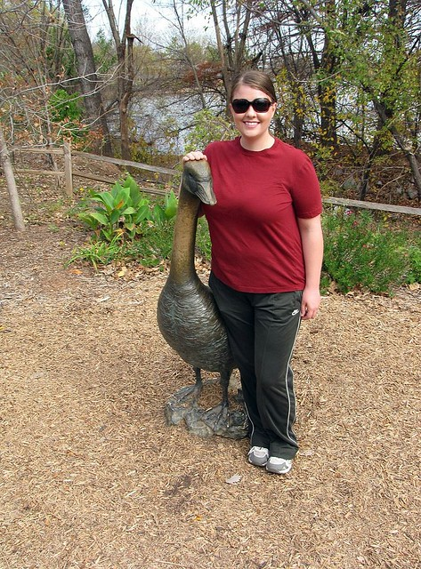 Karen with Goose