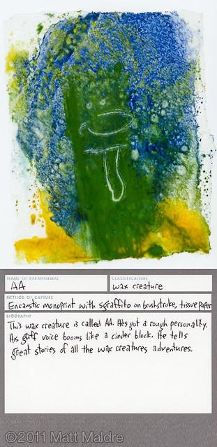 Wax creature 1: Aa