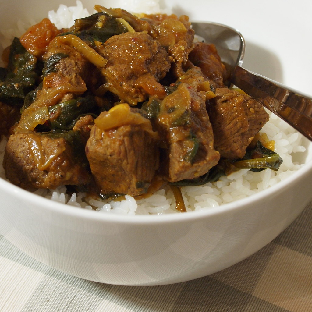 Lamb and spinach curry from South East Asian Food
