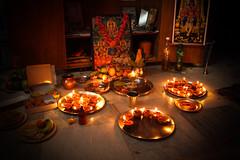 Diwali puja (akshay_aggarwal) Tags: light india lamp canon diwali puja 550d t2i