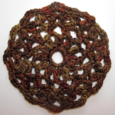 Crocheted Saturn Motif