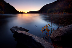 Potomac and Shenandoah (jeffsmallwood) Tags: longexposure morning mountain mountains reflection water rock sunrise river dawn rocks cpc westvirginia valley potomac harpersferry shenandoah