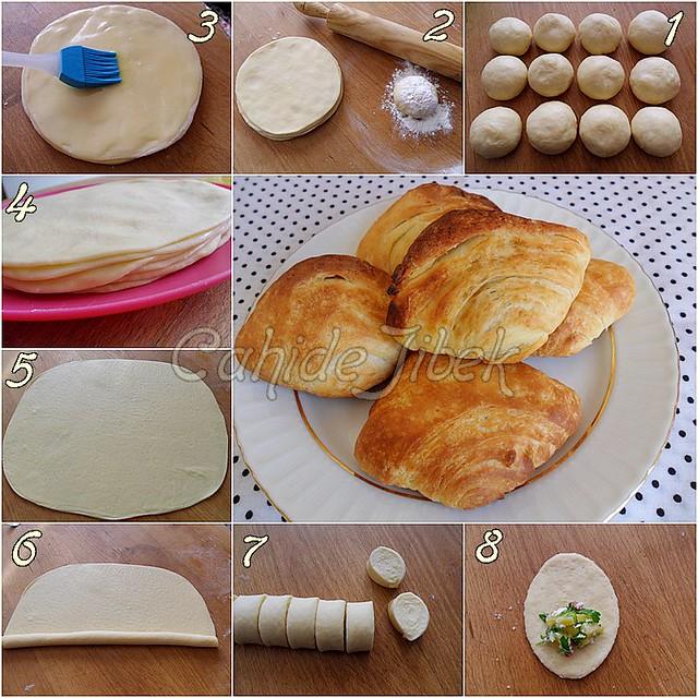 midye börek yapımı