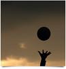 Dunia Yang Dikejar [Unedited] (AnNamir™ c[_]) Tags: world silhouette canon ball hand kitlens minimal crop 7d getty silueta bola eleven siluet volley gi senja unedited 111111 bayang wow1 wow2 wow3 wow4 dunia petang minimalisme tangan wow5 bolatampar annamir 11112011 mygearandme