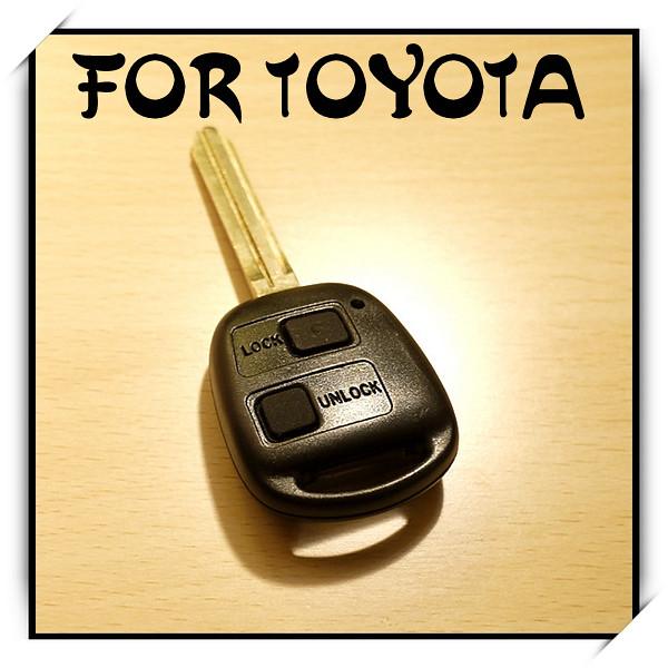 2 button remote key fob case w rubber pad for toyota camry rav4 corolla prad. Black Bedroom Furniture Sets. Home Design Ideas