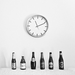 (SONG TSE  ) Tags: bw clock home beer bottle time 111111 2011 11112011