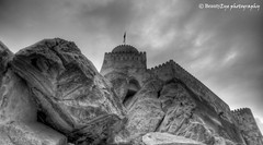 Nakhal Fort . . . B&W (Beauty Eye) Tags: mountain green canon high rocks iron view fort melt tamron oman defence     600d     nakhal   nakhalfort besutyeye