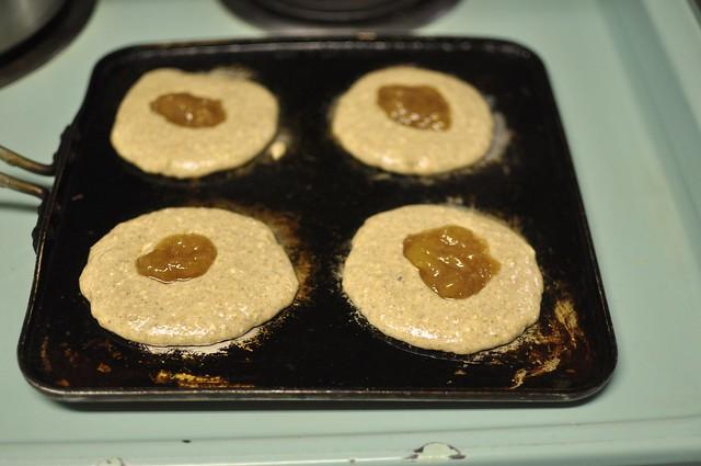 filling pancakes