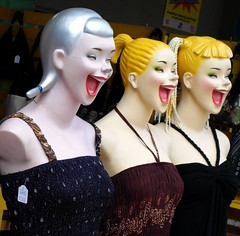 You've got to laugh !!! (Flyingpast) Tags: street travel ladies girls colour smile fashion shop lady laughing mouth shopping fun store spain eyes funny dummies dress display samsung lips tenerife laughter trio gals onsale highstreet canaryislands manequin hahaha islascanarias adeje loscristianos intellistudio wb2000 tl350