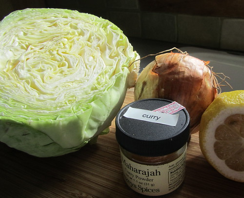 Curried Cabbage, Ingredients
