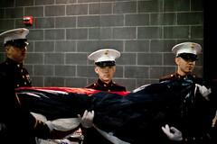 New York Jets Military Appreciation Ceremony, 2011 (NYCMarines) Tags: coastguard usa ny newyork usmc soldier football newjersey marine uniform flag military jets nfl nj places meadowlands airforce usarmy unfurl