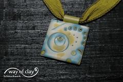 pendant (way of clay) Tags: necklace handmade polymerclay fimo schmuck kato premo mokumegane wayofclay