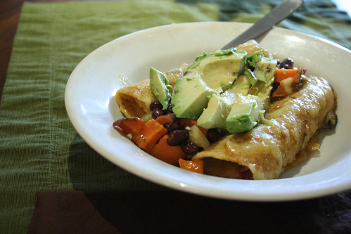 Enchiladas with Avocado