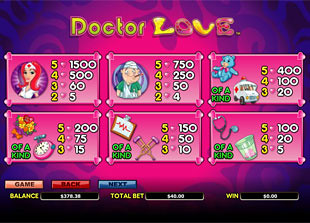 free Doctor Love Slots payout