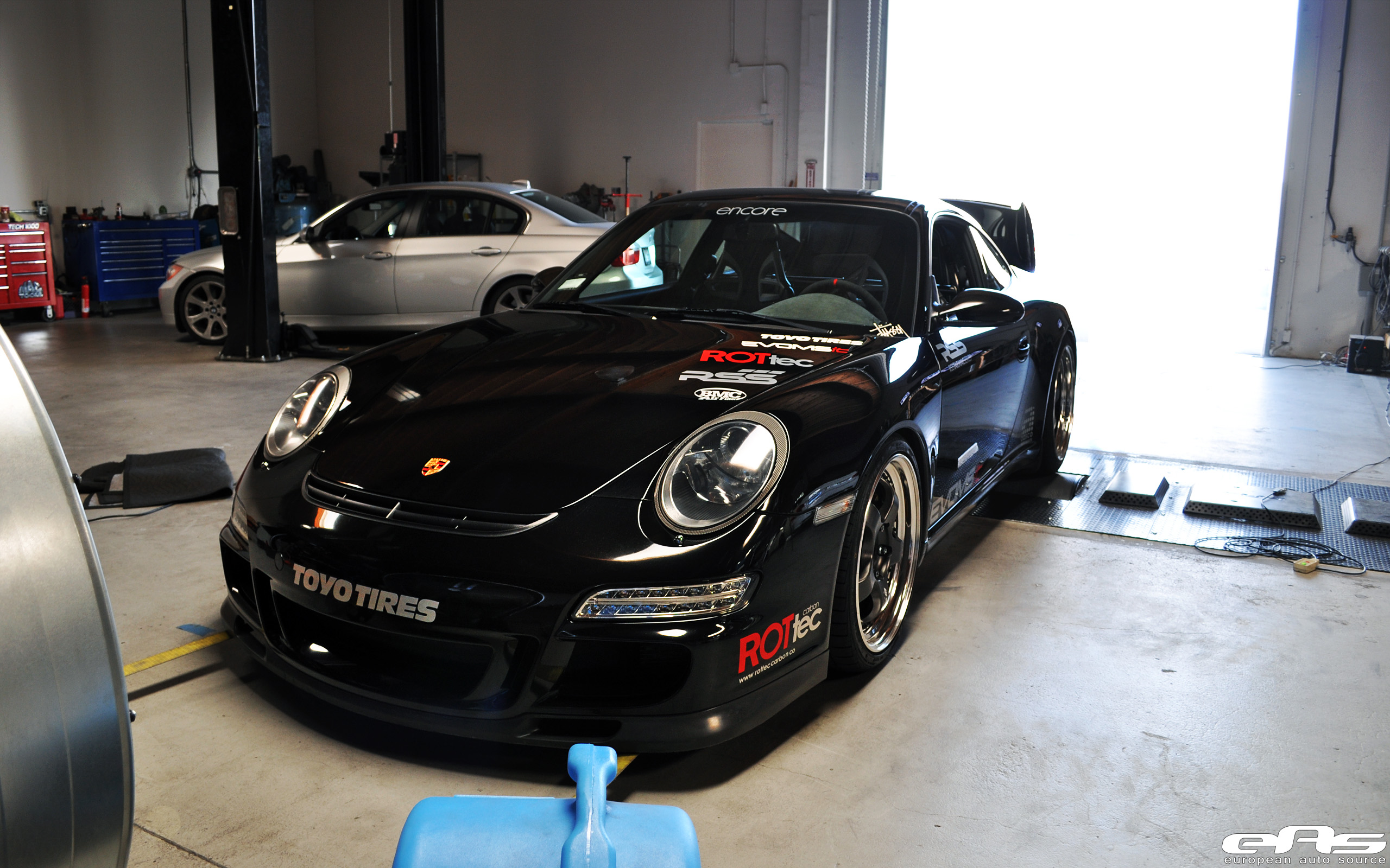 Jet Black Porsche 997 On The Dyno Bmw Performance Parts