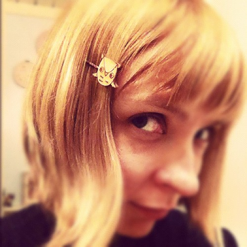 Tiny owl hairpins!