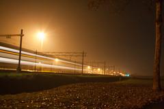 Sprinten om de rijtijd te halen. (Durk Houtsma.) Tags: nacht slt kijfhoek