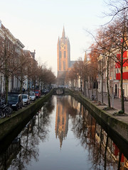 The Peace Within (Lynn Morag) Tags: street bridge holland church netherlands reflections canal thenetherlands delft lynn nl oldchurch kerk oudekerk lynnmorag november11 sx40 allrightsreserved rajarumugam