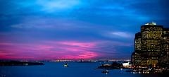 The Flame of Liberty (Philippe Lejeanvre) Tags: nyc newyorkcity sunset nikon manhattan statueofliberty 2011 newyorksunset philippelejeanvre